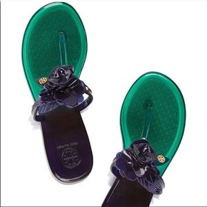 TORY BURCH THONG JELLY SLIPPERS